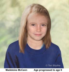 Madeleine McCann Age Progression Image(age 9)